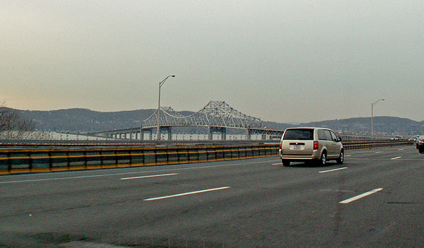 New York State - Tappan Zee Bridge - location used in science fiction dark fantasy novel Dog Eat Dog by British author David J Rodger