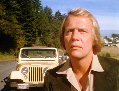 David Soul as Ben Mears in Salem's Lot 1979 gazing in mute horror at the Marsten House - a writer returns to the town of his childhood to confront the Evil that lurks there