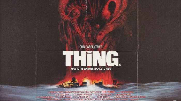 John Carpenter The Thing Movie #poster 1982 Horror film with nod to H.P. Lovecraft's Cthulhu Mythos #wallpaper