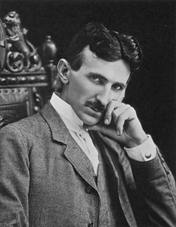 Nikola Tesla black and white photograph 10 July 1856 – 7 January 1943 Serbian-American inventor, electrical engineer, mechanical engineer, physicist, and futurist