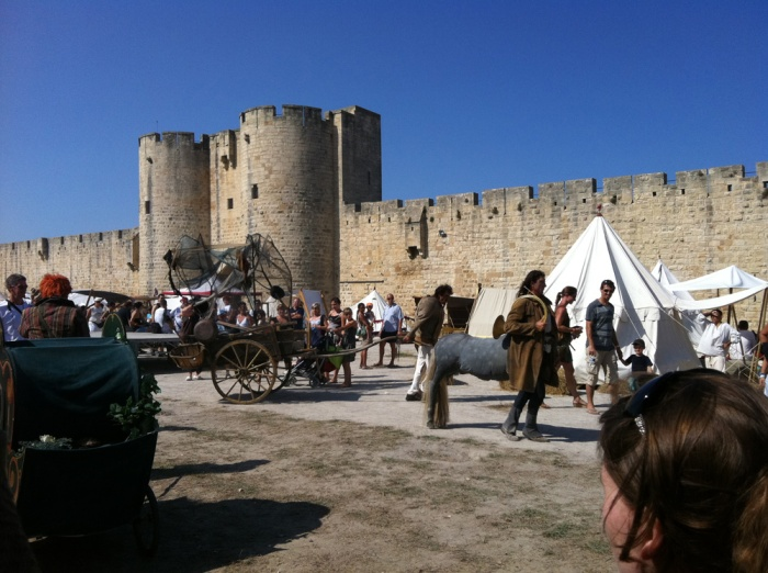 ramparts of aigues-mortes South of France medieval crusader fort used in post-apocalyptic setting of Yellow Dawn