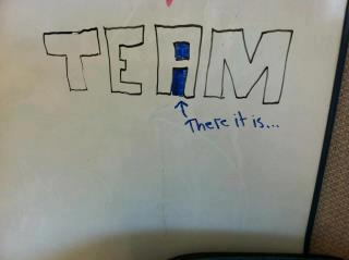 There is no i in team proof there is an i in team (2)