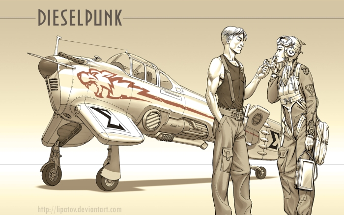 diesel punk art vanship wallpaper by Alexey Lipatov Ukraine