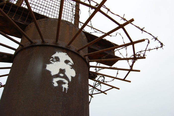 street art Jesus Christ Messiah hand stencil and spray by orticanoodles