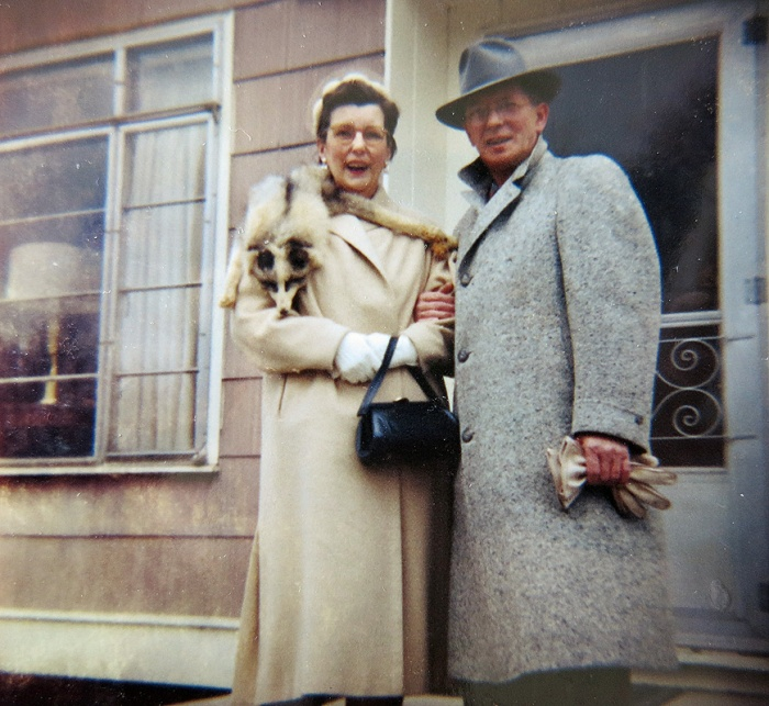 Family ancestry Erling Sherstad USA formerly Skjærstad Norway and wife - great great uncle of David J Rodger