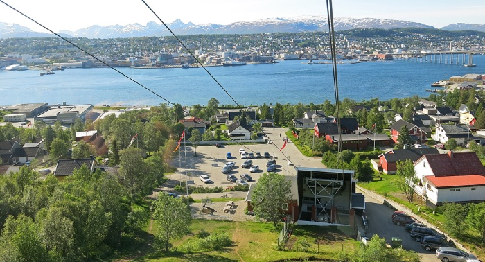 Travel photo Cable car Station Tromso Norway
