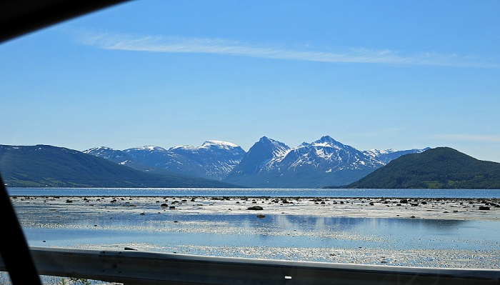 Travel photo driving on E8 towards Tromso - copyright David J Rodger