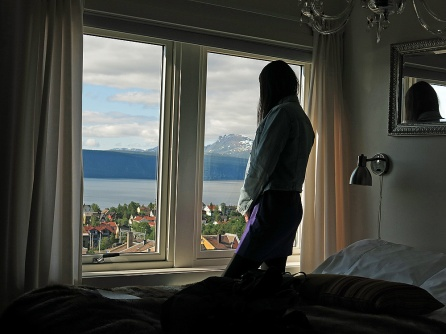 Travel photo Norway - Narvik - view from top room in Breidablikk Guesthouse