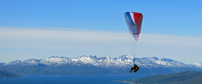 Travel Photo - Norway - Tromsø - Paraglider Copyright David J Rodger
