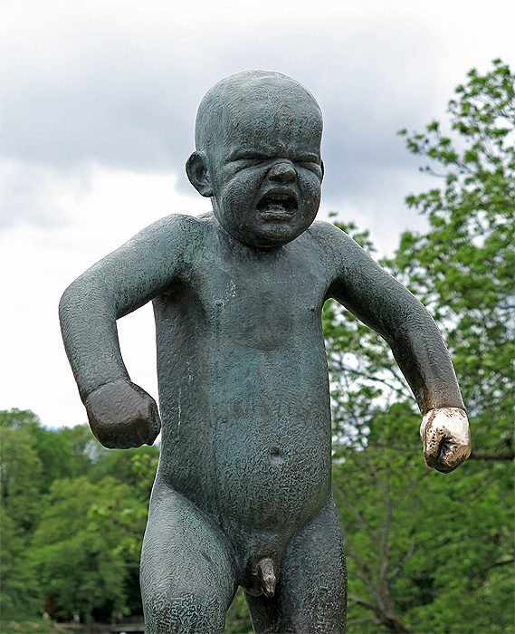 Travel Photo Oslo - Frogner Park - Tantrum child - Copyright David J Rodger