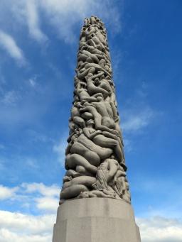 Travel Photo Oslo - Vigeland Sculpture Arrangement in Frogner Park Copyright David J Rodger