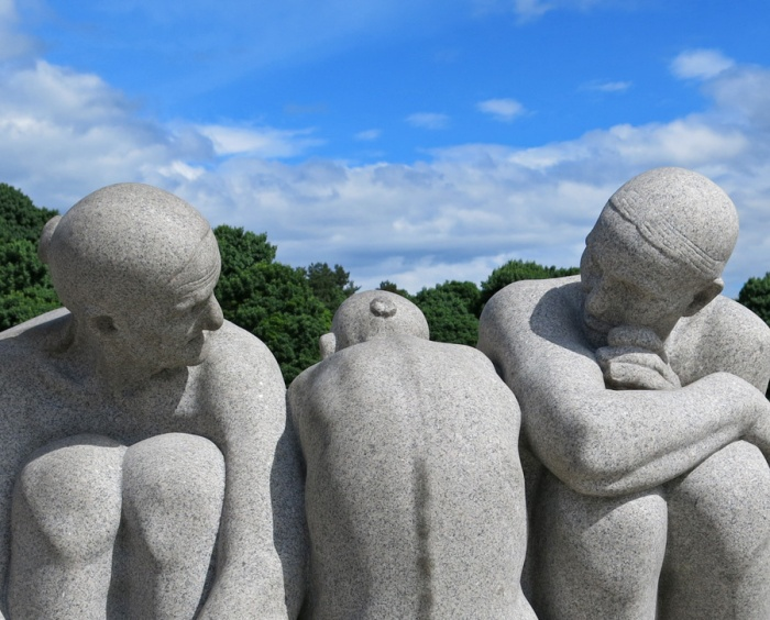 Travel Photo Oslo - Vigeland Sculpture Arrangement in Frogner Park - Friendship through Age - Copyright David J Rodger