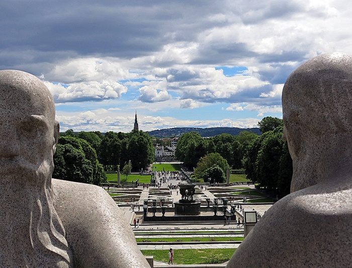 Travel Photo Oslo - Vigeland Sculpture Arrangement in Frogner Park - Old Vikings - Copyright David J Rodger