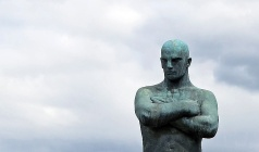 Travel Photo Oslo - Vigeland Sculpture Arrangement in Frogner Park - Teuton - Copyright David J Rodger