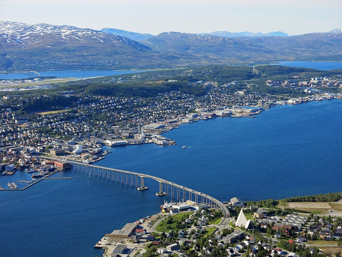Travel photo view of Tromso Norway Copyright David J Rodger