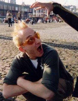 1997 - Djr outside Arnolfini Cafe