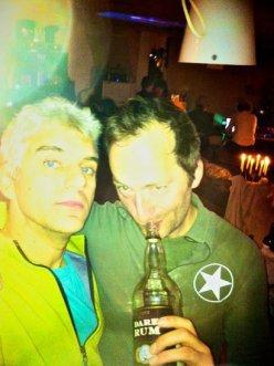 Dan B and David J Rodger Hot Tub Time Machine Party