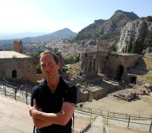 2012 - Djr - Taormina Sicily in pursuit of locations used in the novel Iron Man Project
