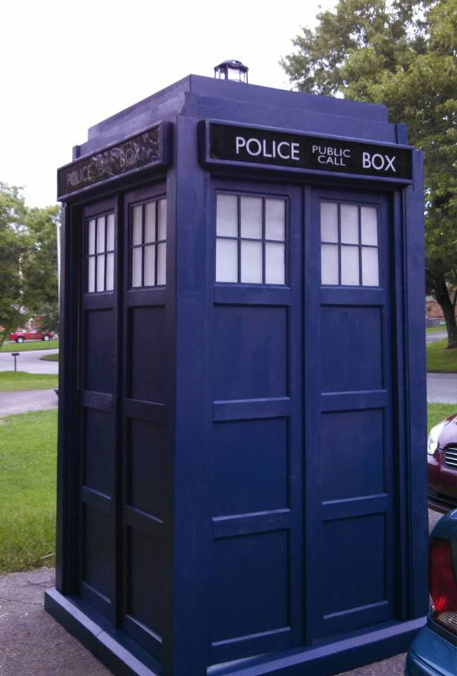 DIY home made Tardis - Police Call Box - built by Major Sebastian Perry