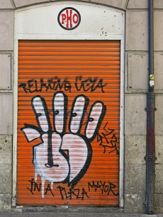 graffiti Plaza Mayor of Valladolid