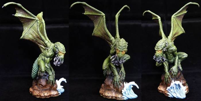 Great Cthulhu for the upcoming Cthulhu Wars boardgame and Fenris Games Sculpted by Jo Brumby painted by Duff Paint