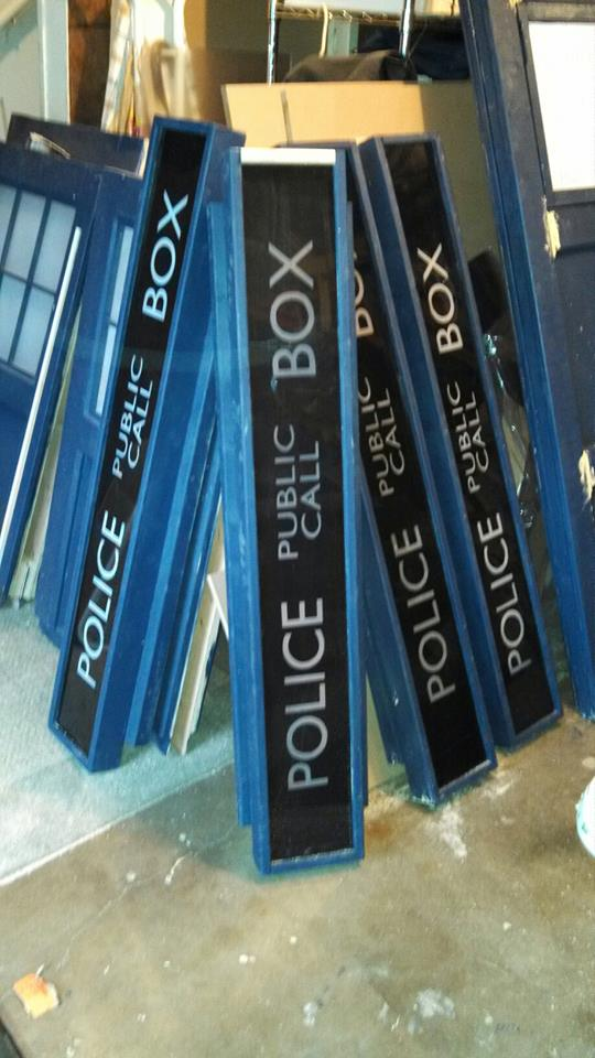 Public Call Box Signage - DIY home made Tardis - Police Call Box - built by Major Sebastian Perry