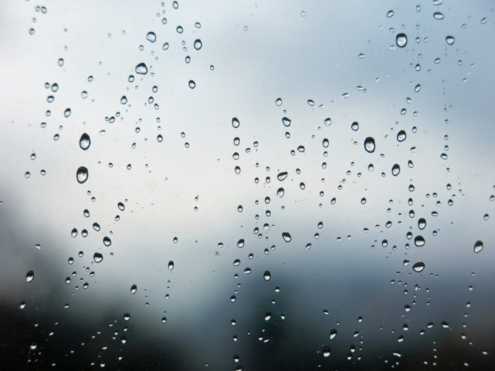 Rain drops on a window - image copyright David J Rodger