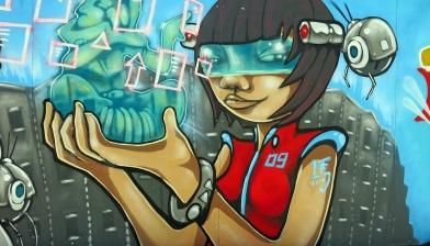 Street Art Bristol - Sci-Fi Girl 09