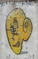 street art graffiti Dubrovnik Croatia yellow face