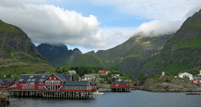 travel photo arctic circle  Norway - Å - image copyright David J Rodger