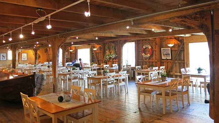 travel photo arctic circle  Norway - Interior of Karoline Cafe - Nusfjord - image copyright David J Rodger