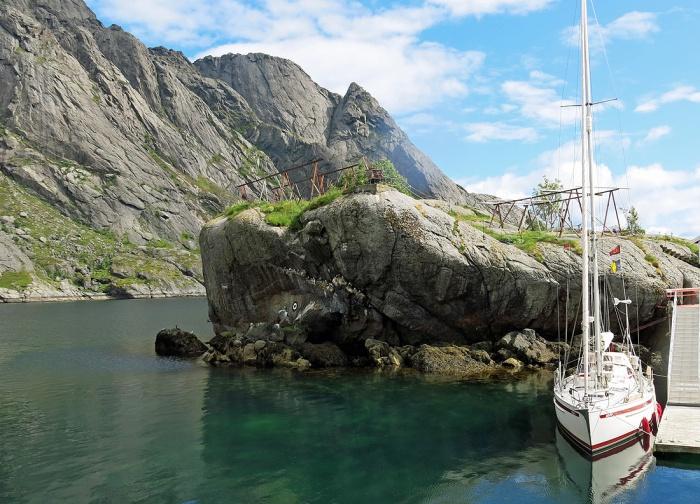travel photo arctic circle  Norway - Nusfjord - image copyright David J Rodger