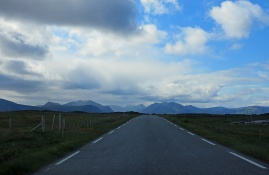 travel photo epic drive Norway - south of Bleik on the the fv 976 after the fv 974 intersection