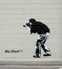 Travel photo - Graffiti - Mr Hmm - Svolvaer Norway - copyright David J Rodger