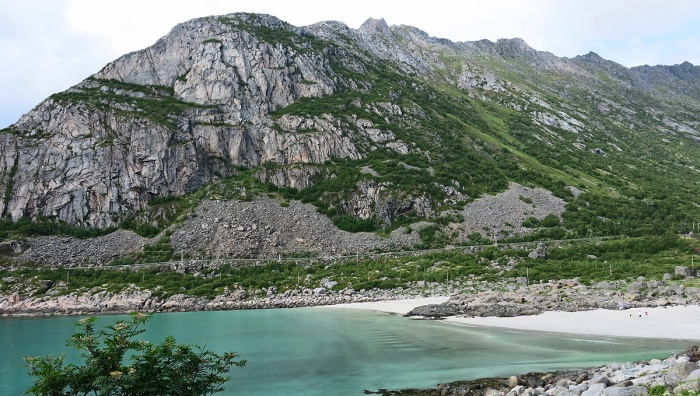 travel photo Henningsvaer arctic circle norway - arctic beach with turquoise water and white sands  - image copyright David J Rodger