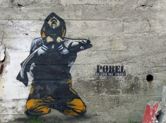 travel photo Henningsvaer arctic circle norway - Graffiti In Cod We Trust Pobel - image copyright David J Rodger