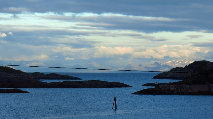 travel photo Henningsvaer arctic circle norway - view from hotel window  - image copyright David J Rodger