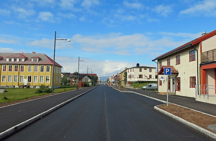 Travel photo Norway street view of Andenes  on nothern tip of Vesterålen Islands - copyright David J Rodger