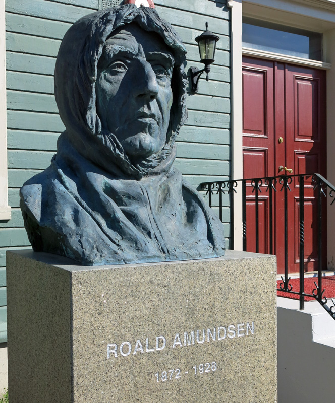 Travel Photo Statue of Roald Amundsen Tromso Norway