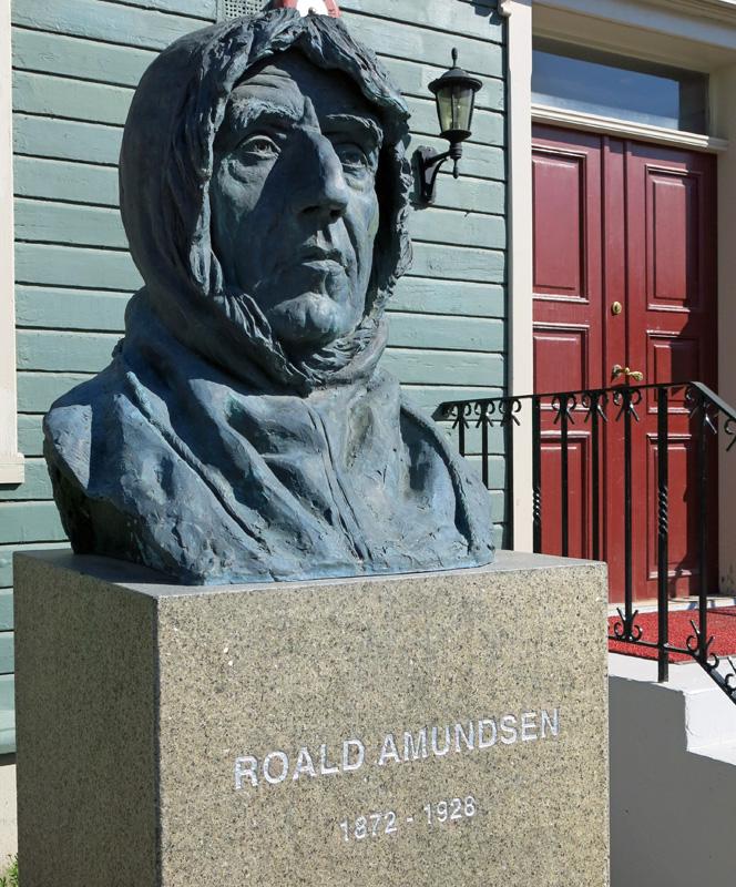Travel Photo Statue of Roald Amundsen Tromso Norway
