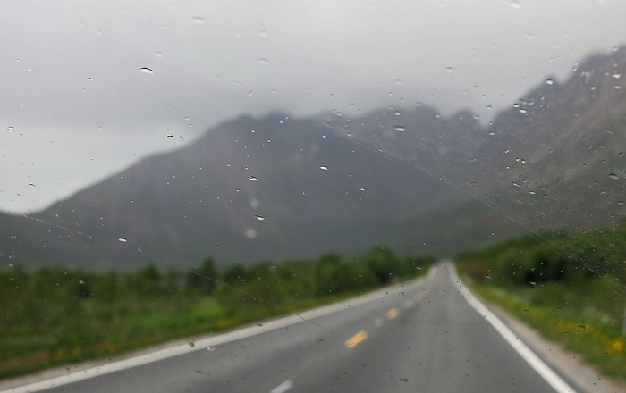 travel photo the road to Henningsvaer arctic circle norway - image copyright David J Rodger