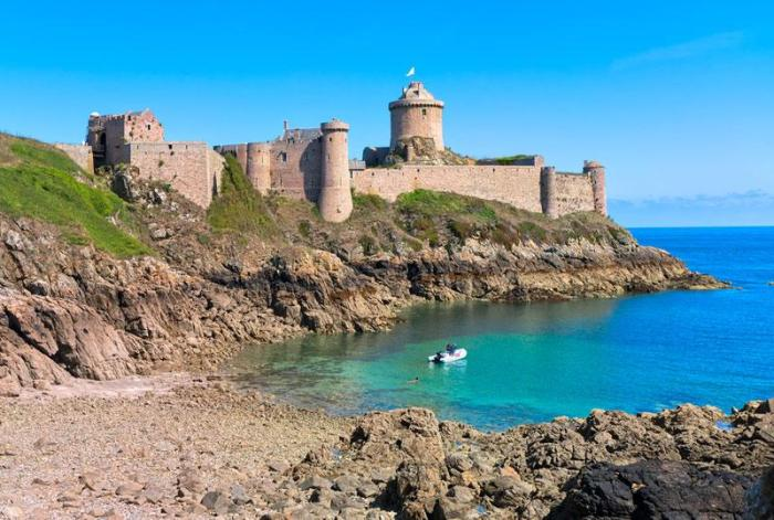 abandoned fort on south of france coastline - perfect location for post-apocalyptic stronghold