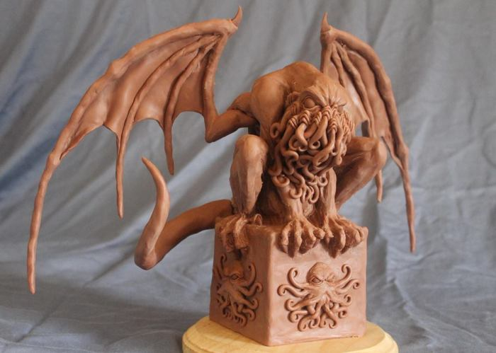 Cthulhu Mythos Sculpture - Crouching Cthulhu by Shaun Gentry - work in progress (1)