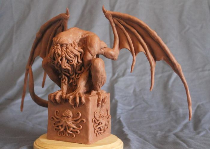 Cthulhu Mythos Sculpture - Crouching Cthulhu by Shaun Gentry - work in progress (4)