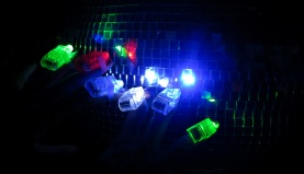 Home Made Night Club - finger glow rings against disco ball Photo by David J Rodger