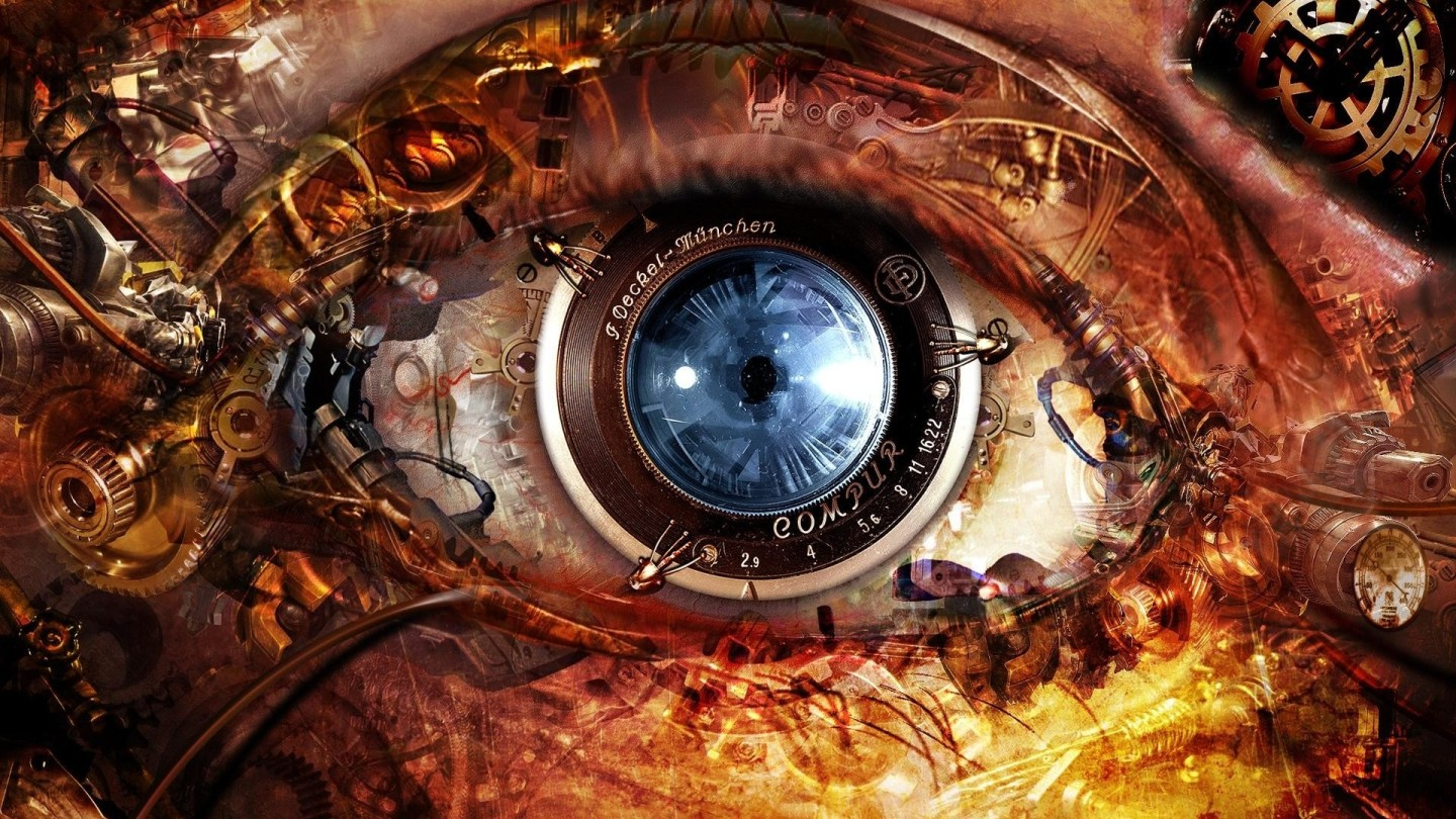 Sci-fi Eye - Clockwork cyberpunk implant technology