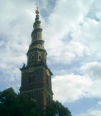 Travel photo - Copenhagen - Spiral walkway outside church tower