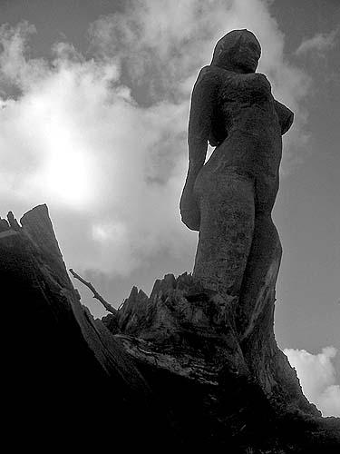 Travel photo - Copenhagen - wooden carving of female figure
