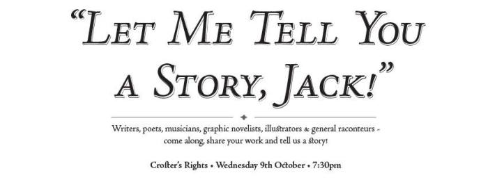 Bristol's first variety storytelling club The Crofter's Rights writers, musicians, poets, rappers, comedians, illustrators and general raconteurs to get together