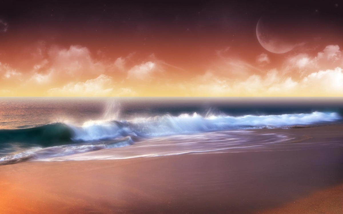 Artistic Ocean Scene